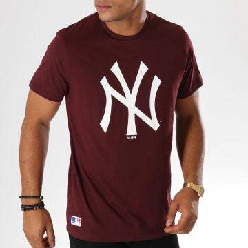 Tee Shirt Team Logo New York Yankees 11863695 Bordeaux
