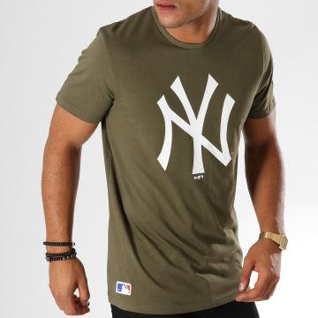 Tee Shirt Team Logo New York Yankees 11863694 Vert Kaki