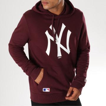 Sweat Capuche Team Logo New York Yankees 11863699 Bordeaux
