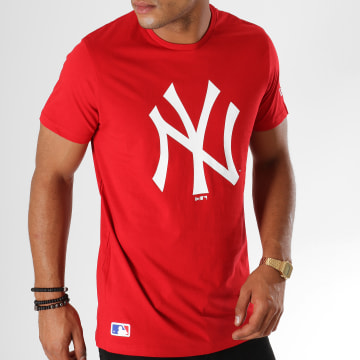 Tee Shirt Team Logo New York Yankees 11863819 Rouge