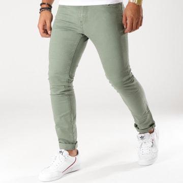 Celio - Pantalon Chino Mofirst Vert Kaki