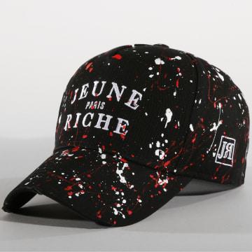 Casquette Zongo Noir Blanc Rouge