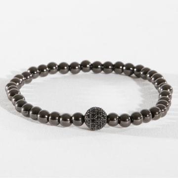 Bracelet B919-2 Argenté Noir