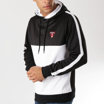 Sweat Capuche Bicolore Blanc Noir