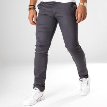 Black Needle - Pantalon Chino 1011 Gris Anthracite