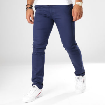 Black Needle - Pantalon Chino 1011 Bleu Nuit