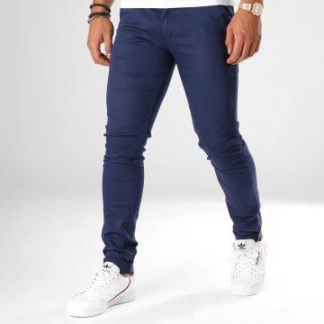 Black Needle - Pantalon Chino 1012 Bleu Nuit