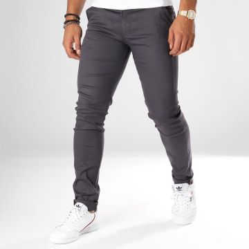 Black Needle - Pantalon Chino 1012 Gris Anthracite