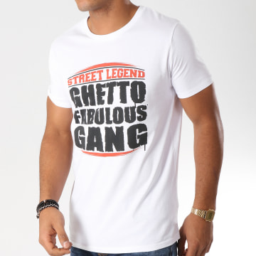 Ghetto Fabulous Gang - Tee Shirt Street Legend Blanc