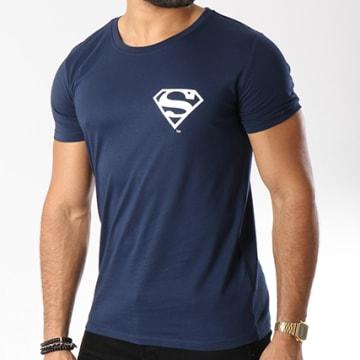 DC Comics - Tee Shirt Back Logo Bleu Marine