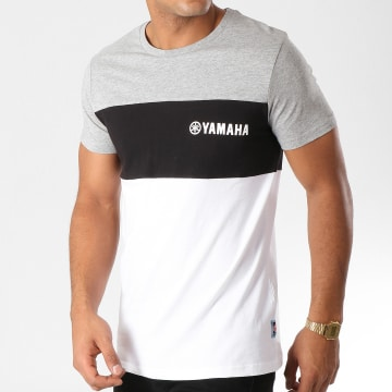 Tee Shirt Tape Blanc Noir Gris Chiné