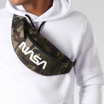 NASA - Sacoche Banane Worm Logo Camouflage Vert Kaki