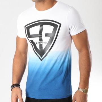 93 Empire - Tee Shirt 93 Empire Dégradé Blanc Bleu