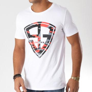 93 Empire - Tee Shirt 93 Empire Camo Blanc Rouge Noir