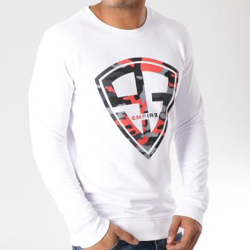 93 Empire - Sweat Crewneck 93 Empire Camo Blanc Noir Rouge