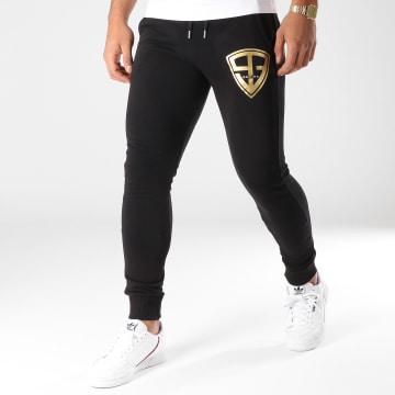 Pantalon Jogging 93 Empire Noir Doré