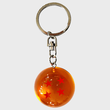 Dragon Ball Z - Porte Clés Boule De Cristal Orange Argenté