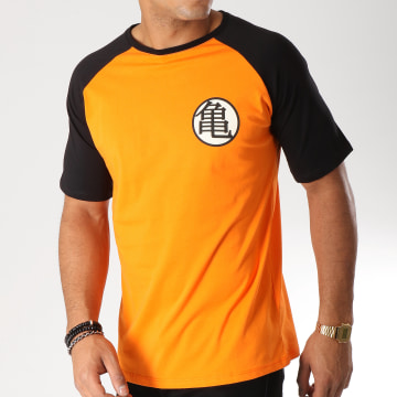Tee Shirt Kame Symbol Orange Noir