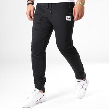 Y et W - Pantalon Jogging Réversible Black Skullz Noir