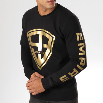 93 Empire - Sweat Crewneck 93 Empire Sleeves Noir Doré