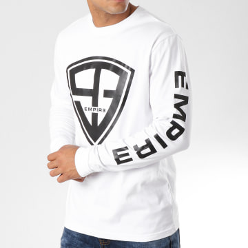 93 Empire - Tee Shirt Manches Longues 93 Empire Sleeves Blanc