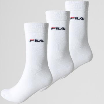 Fila - Lot De 3 Paires De Chaussettes Calza F9630 Blanc