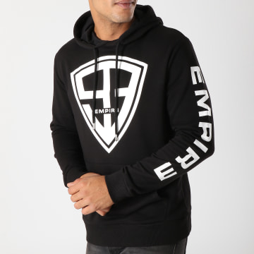 93 Empire - Sweat Capuche 93 Empire Sleeves Noir Blanc