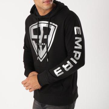 93 Empire - Sweat Capuche 93 Empire Sleeves Noir Argenté