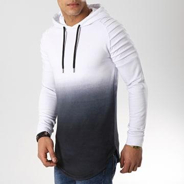 Sweat Capuche Oversize 505 Blanc Dégradé Noir