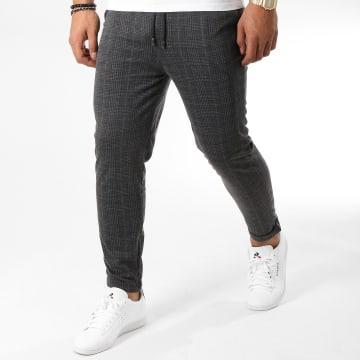Frilivin - Pantalon Carreaux 1405 Noir Gris Anthracite