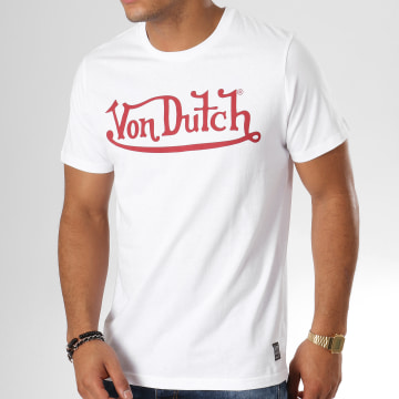 Von Dutch - Tee Shirt Best Blanc Rouge