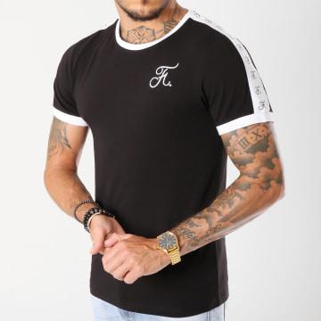 Tee Shirt Premium Fit Avec Bandes 140 Noir