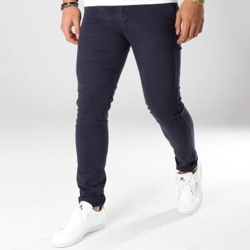 Aarhon - Pantalon Chino ACH004 Bleu Marine