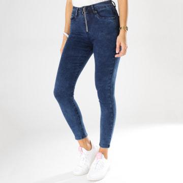 Girls Only - Jean Skinny Femme Taille Haute 7160 Bleu Denim