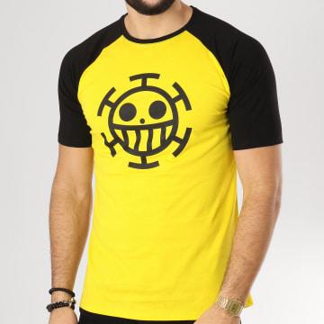 One Piece - Tee Shirt Trafalgar Law Jaune Noir