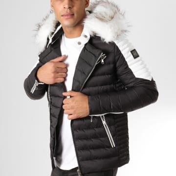 Comme Des Loups - Doudoune Fourrure F1865 Noir Blanc