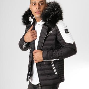 Comme Des Loups - Doudoune Fourrure F1865 Noir Blanc Noir