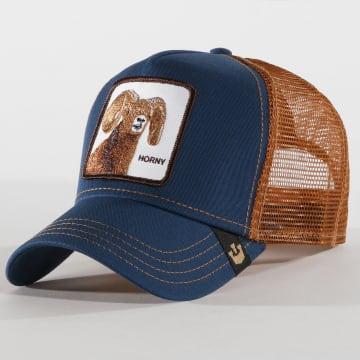 Goorin Bros - Casquette Trucker Horny Bleu Clair Camel