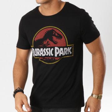 Jurassic Park - Tee Shirt Vintage Logo Noir