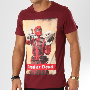 Deadpool - Tee Shirt Dead Or Dead Bordeaux