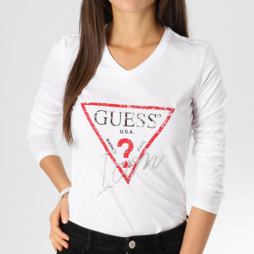 Tee Shirt Manches Longues Femme W91I58-K46D0 Blanc