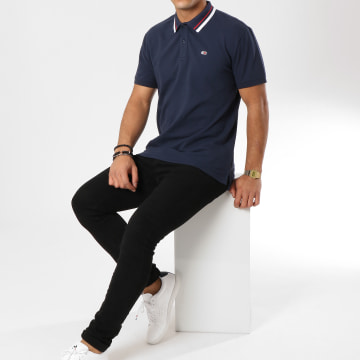 Tommy Jeans - Polo Manches Courtes Classics Stretch 5509 Bleu Marine
