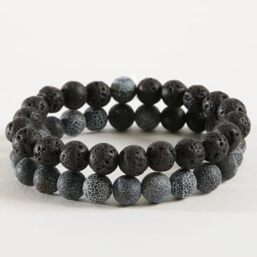 California Jewels - Lot De 2 Bracelets B939 Noir Bleu