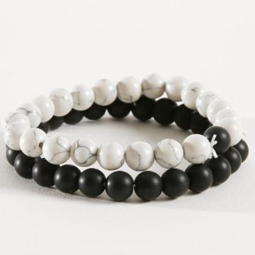 Lot De 2 Bracelets B905 Noir Blanc