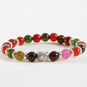Bracelet B940-1 Noir Rouge Blanc