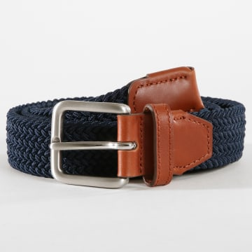 Jack And Jones - Ceinture Spring Woven Bleu Marine Marron