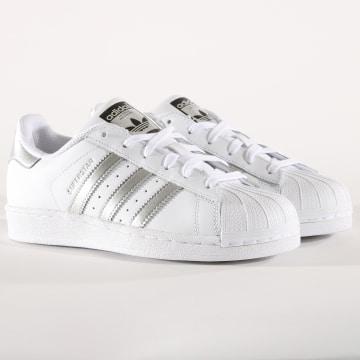 Adidas Originals - Baskets Femme Superstar AQ3091 Footwear White Silver Metallic
