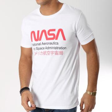NASA - Tee Shirt Admin Blanc Rouge
