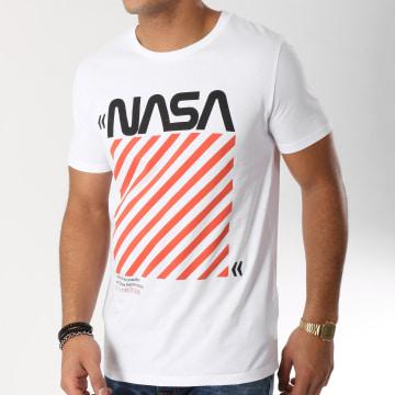 NASA - Tee Shirt Caution Blanc