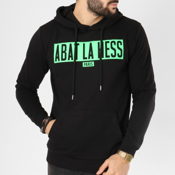 OhMonDieuSalva - Sweat Capuche Abat La Hess Box Logo Noir Vert